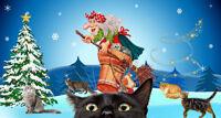 Кошки в гостях у Бабки-Ежки новогодняя сказка